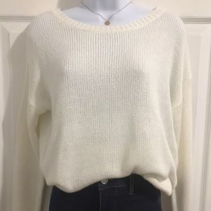 White Cozy Knit Sweater